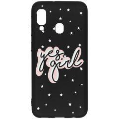 Cover Design a Colori Samsung Galaxy A20e - Yes Girl