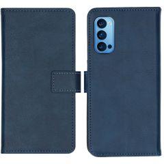 iMoshion Custodia Portafoglio de Luxe Oppo Reno4 Pro 5G - Blu scuro