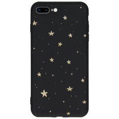 Cover Design a Colori iPhone 8 Plus / 7 Plus - Gold Stars Black