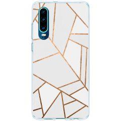 Cover Design Huawei P30 - White Graphic