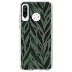 Cover Design Huawei P30 Lite - Green Leaves