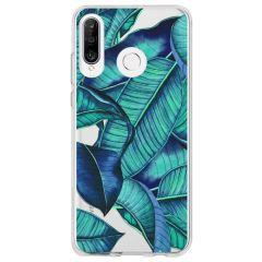 Cover Design Huawei P30 Lite - Blue Botanic