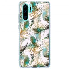 Cover Design Huawei P30 Pro - Gold Peacock