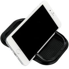 Supporto auto per smartphone con vaschetta antiscivolo - Nero