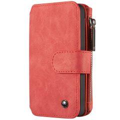 CaseMe Custodia Portafoglio de Luxe 2 in 1 iPhone 5 / 5s / SE - Rosso