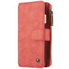 CaseMe Custodia Portafoglio de Luxe 2 in 1 iPhone SE (2020) / 8 / 7 - Rosso