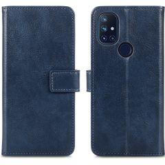 iMoshion Custodia Portafoglio de Luxe OnePlus Nord N10 5G - Blu scuro