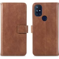 iMoshion Custodia Portafoglio de Luxe OnePlus Nord N10 5G - Marrone
