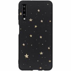 Cover Design a Colori Samsung Galaxy A7 (2018) - Gold Stars Black