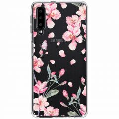 Cover Design Samsung Galaxy A7 (2018) - Blossom Watercolor Pink
