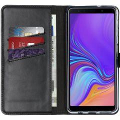 Selencia Custodia Portafoglio in Vera Pelle Samsung Galaxy A7 (2018) - Nero