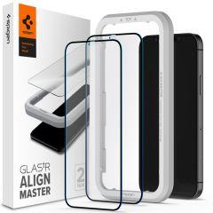 Spigen AlignMaster Full Cover Pellicola Protettiva 2 Pezzi iPhone 12 Pro Max
