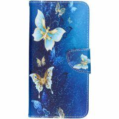 Custodia Portafoglio Flessibile Samsung Galaxy A7 (2018) - Blue Butterfly