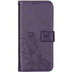 Custodia Portafoglio Fiori di Trifoglio Nokia 5.3 - Viola