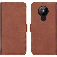 iMoshion Custodia Portafoglio de Luxe Nokia 5.3 - Marrone