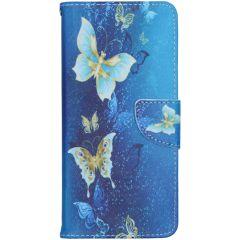 Custodia Portafoglio Flessibile Nokia 5.3 - Blue Butterfly