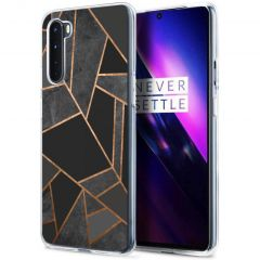 iMoshion Cover Design OnePlus Nord - Black Graphic