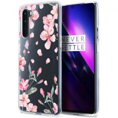 iMoshion Cover Design OnePlus Nord - Blossom Watercolor