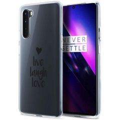 iMoshion Cover Design OnePlus Nord - Live Laugh Love