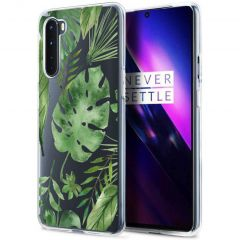 iMoshion Cover Design OnePlus Nord - Monstera Leaves