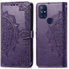 iMoshion Custodia Portafoglio Mandala OnePlus Nord N10 5G - Viola