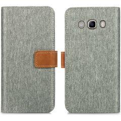 iMoshion Portafoglio Canvas Luxe Samsung Galaxy J5 (2016) - Grigio