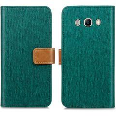 iMoshion Portafoglio Canvas Luxe Samsung Galaxy J5 (2016) - Verde