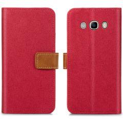 iMoshion Portafoglio Canvas Luxe Samsung Galaxy J5 (2016) - Rosso