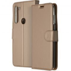 Accezz Custodia Portafoglio Flessibile Motorola Moto G8 Power - Oro
