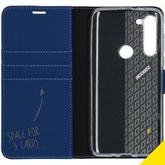 Accezz Custodia Portafoglio Flessibile Motorola Moto G8 Power - Blu