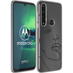 iMoshion Cover Design Motorola Moto G8 Power - Line Art Woman Black