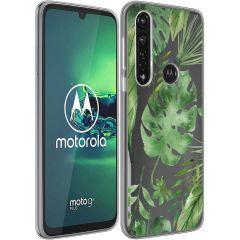 iMoshion Cover Design Motorola Moto G8 Power - Monstera Leaves