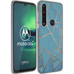 iMoshion Cover Design Motorola Moto G8 Power - Blue Graphic