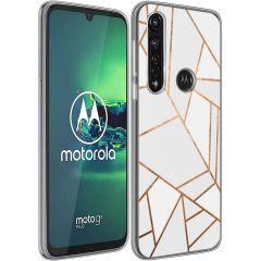 iMoshion Cover Design Motorola Moto G8 Power - White Graphic