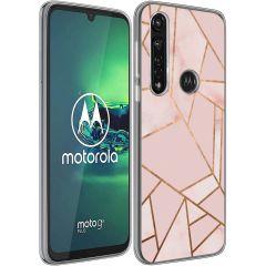iMoshion Cover Design Motorola Moto G8 Power - Pink Graphic