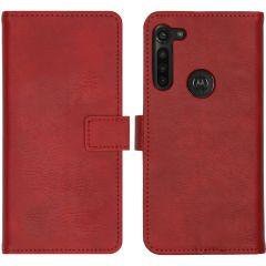 iMoshion Custodia Portafoglio de Luxe Motorola Moto G8 Power - Rosso