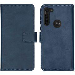 iMoshion Custodia Portafoglio de Luxe Motorola Moto G8 Power - Blu scuro