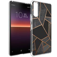 iMoshion Cover Design Sony Xperia 10 II - Black Graphic