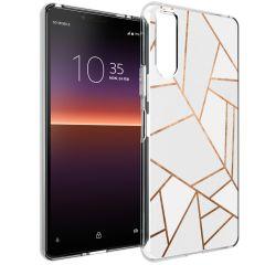 iMoshion Cover Design Sony Xperia 10 II - White Graphic