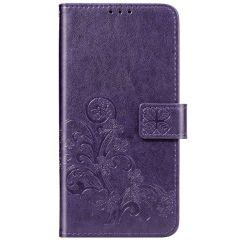 Custodia Portafoglio Fiori di Trifoglio Nokia 2.3 - Viola