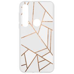Cover Design Motorola Moto G8 Plus - White Graphic