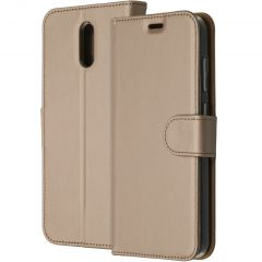 Accezz Custodia Portafoglio Flessibile Nokia 2.3 - Oro