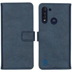 iMoshion Custodia Portafoglio de Luxe Motorola Moto G8 Power Lite - Blu scuro