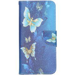Custodia Portafoglio Flessibile Nokia 2.3 - Blue Butterfly