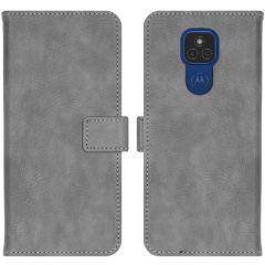 iMoshion Custodia Portafoglio de Luxe Motorola Moto E7 Plus / G9 Play - Grigio