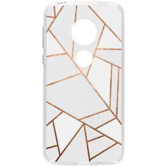 Cover Design Motorola Moto G7 Play - White Graphic