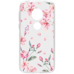 Cover Design Motorola Moto G7 Play - Blossom Watercolor Pink