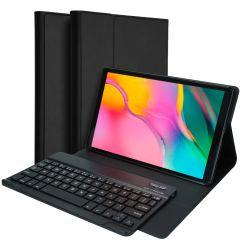 Accezz Custodia a libro con tastiera QWERTY Bluetooth per Samsung Galaxy Tab A 10.1 (2019)