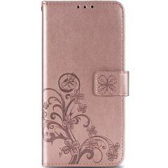 Custodia Portafoglio Fiori di Trifoglio OnePlus 8 Pro - Rosa