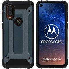 iMoshion Cover Robusta Xtreme Motorola One Vision - Blu scuro